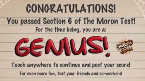 moron-test-tricky-treat-walkthrough-finished