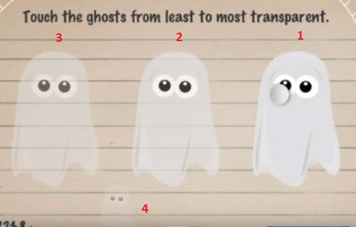 moron-test-tricky-treat-walkthrough-touch-the-ghost-from-least-to-most-transparent